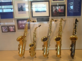 """""""People's Gifts"""" exhibit includes a collection of saxophones."""