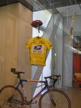 """""""People's Gifts"""" exhibit includes Lance Armstrong's yellow jersey from the Tour de France and an Olympic torch from 1996 Atlanta Games."""