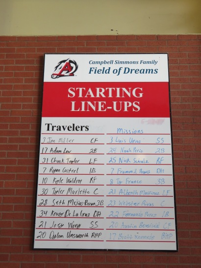 Starting lineups for the San Antonio Missions and Arkansas Travelers.