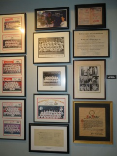 Next to the team photos is the original charter the Travelers received from the Texas League in 1966.