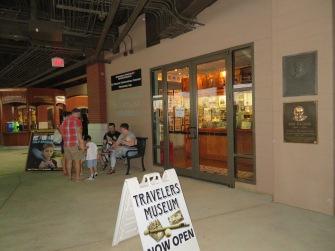 Entrance to the Arkansas Travelers Baseball Museum.