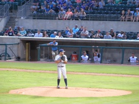 San Antonio Missions starting pitcher Brett Kennedy on the mound in the bottom of the first inning.
