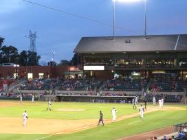 Arkansas Travelers first baseman Ryan Casteel rounds third after belting a first-inning three-run homerun.