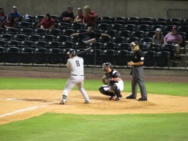 San Antonio Missions third baseman Ty France at the plate in the top of the second inning.