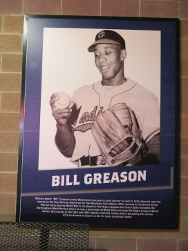 Bill Greason, a native of Atlanta, Ga., integrated the Oklahoma City Indians in 1952 after playing for numerous Negro League teams. He made his Major League debut with the St. Louis Cardinals in 1954.