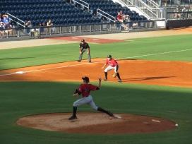 Birmingham Barons starting pitcher Michael Kopech on the mound.