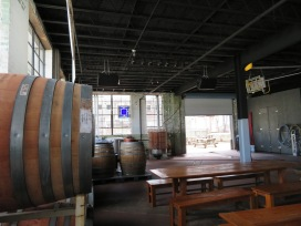 Taproom seating.