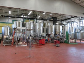 An overview of the brewing equipment.