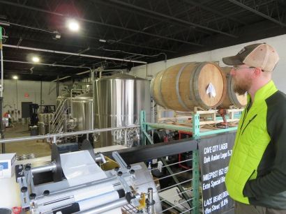 Head brewer Eric Tollison talking about the history of the brewery and his work there.