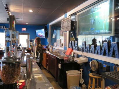 A view behind the bar.