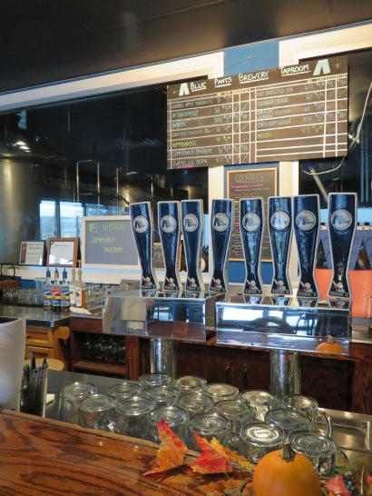A view of the draft menu and taps.