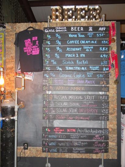The extensive beer list.