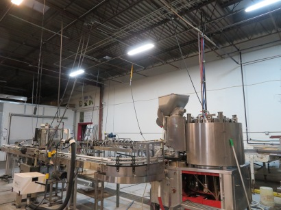 A view of the canning line.