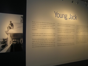 """""""Young Jack"""" special exhibit detailed the president's life before his run for office."""