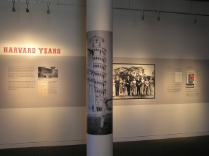 """Portion of """"Young Jack"""" special exhibit detailing the president's collegiate years."""