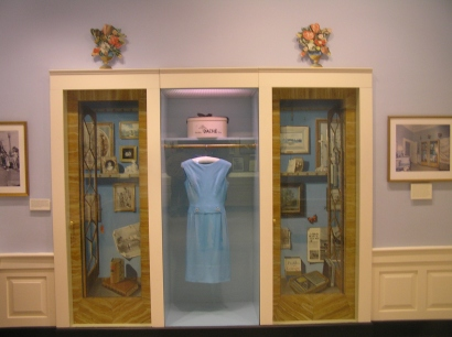 """The """"First Lady Jacqueline Bouvier Kennedy"""" exhibit features some of her dresses."""
