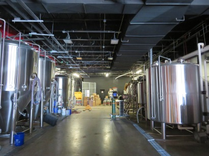 An overview over the brewing and fermentation equipment