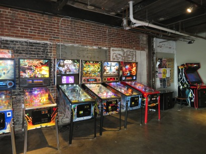 An overview of the pinball machines.