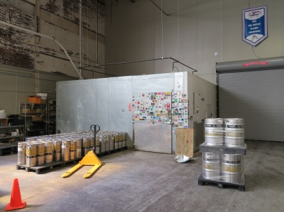 A view of the brewery's old walk-in cooler.
