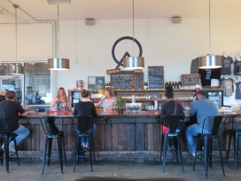 A view of the bar in the tasting gallery.