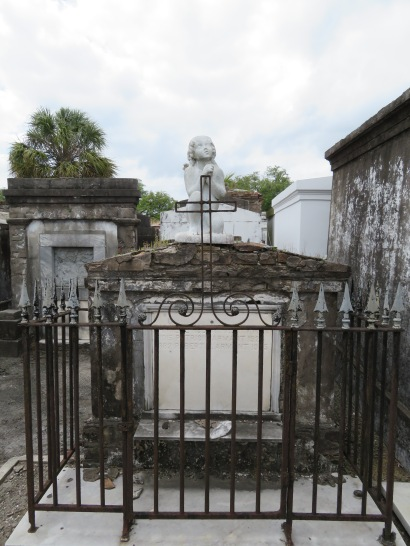 St. Louis Cemetery No. 1 is noted for its statues, especially this angel.