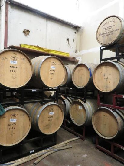 Barrels storing sour ales.