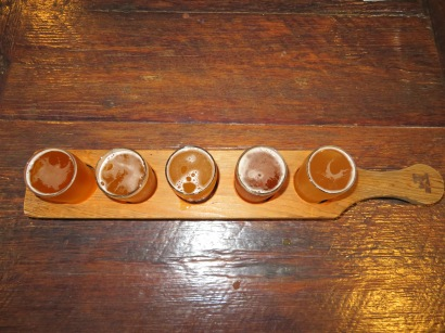 My flight of beers.