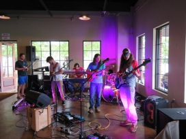The Orange Constant performing at the brewery.