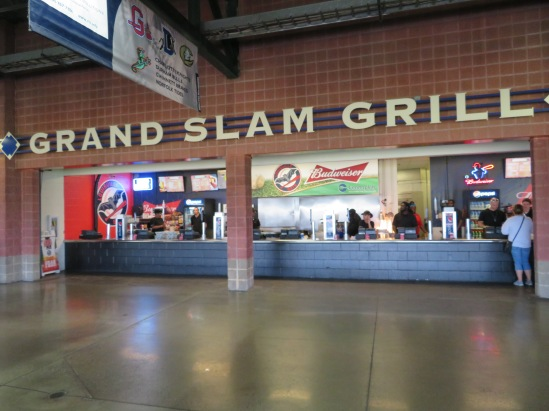 The Grand Slam Grill concession stand.