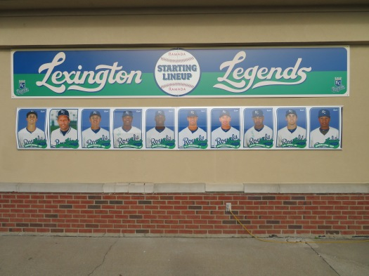 The starting lineup for the Lexington Legends.