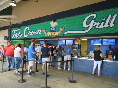 An overview of the Triple Crown Grill concession stand.