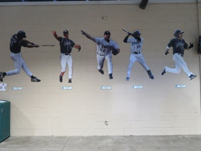 A collection of action stickers of former Lexington Legends who have played in the Majors.